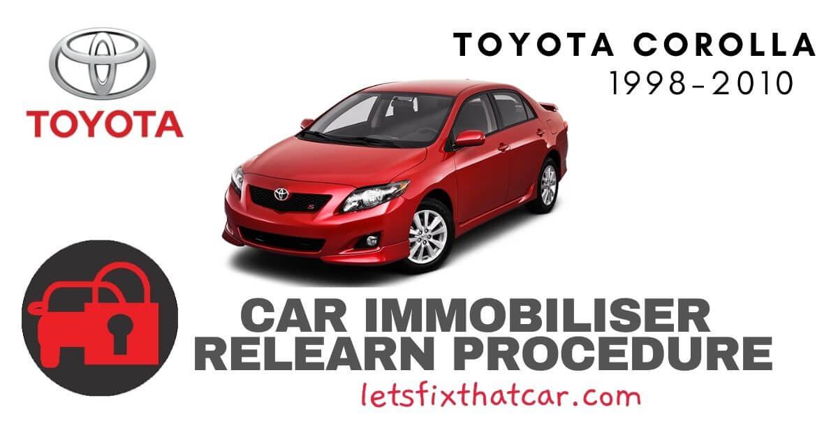 Key Programming Toyota Corolla 1998-2010