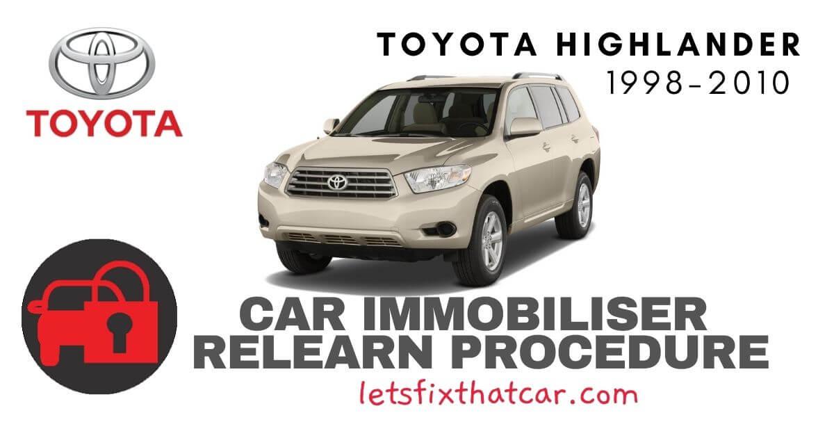 Key Programming Toyota Highlander 1998-2010