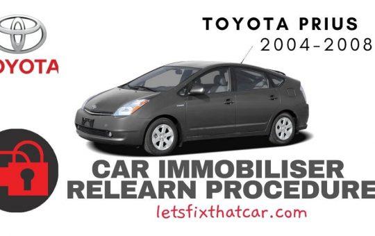 Key Programming Toyota Prius 2004-2008