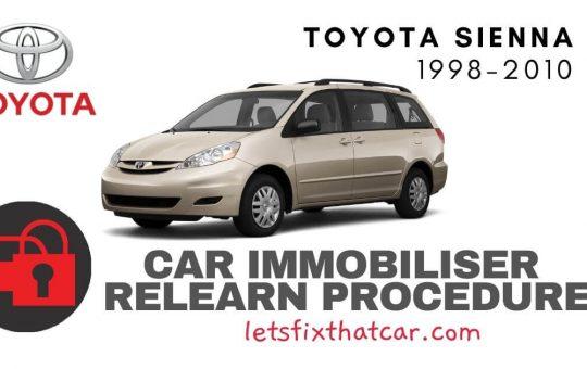 Key Programming Toyota Sienna 1998-2010