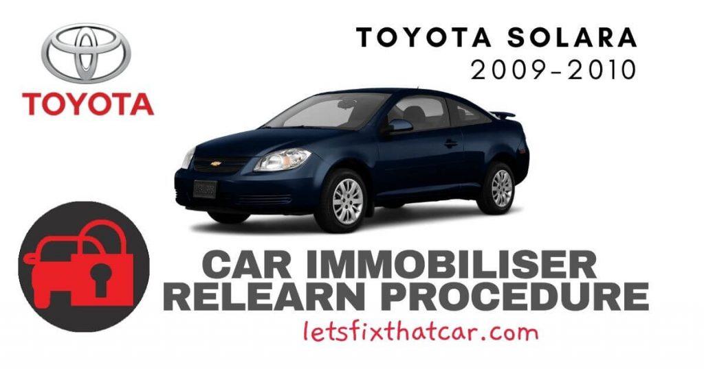 Key Programming Toyota Solara 2009-2010