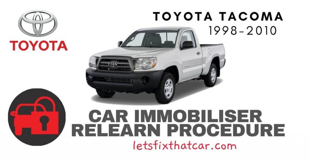 Key Programming Toyota Tacoma 1998-2010