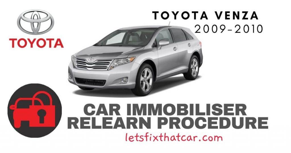 Key Programming Toyota Venza 2009-2010