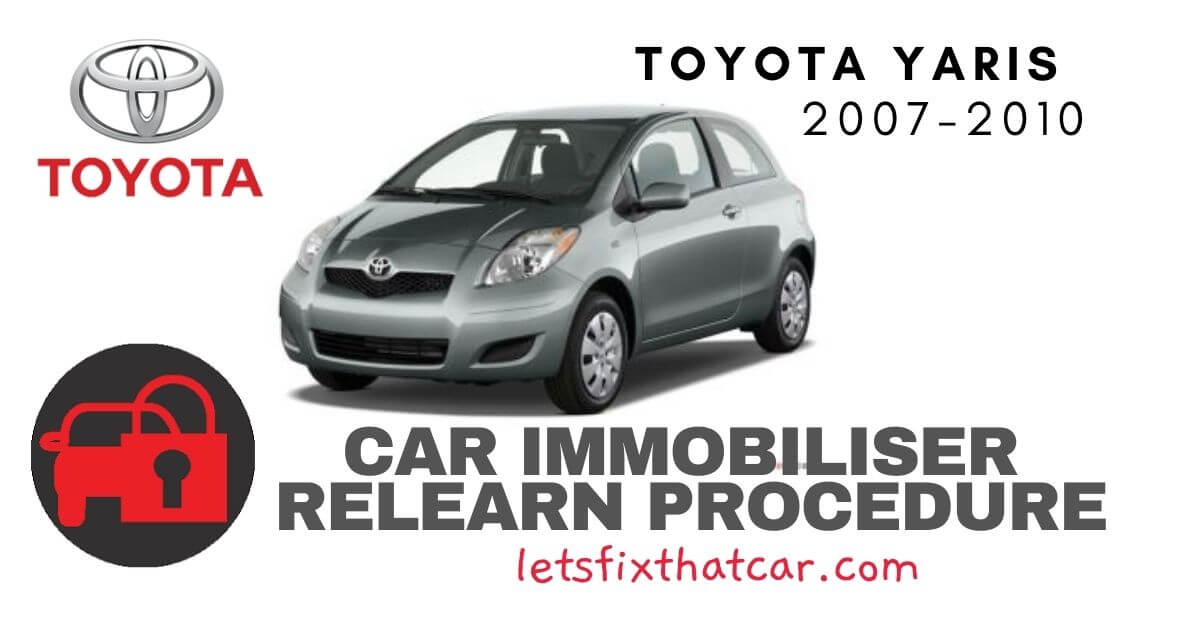 Key Programming Toyota Yaris 2009-2010